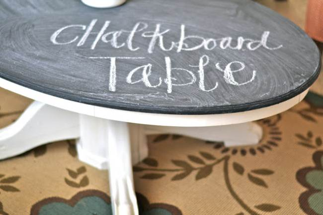 Chalkboard Coffee Table DIY {Coffee & Side Tables}