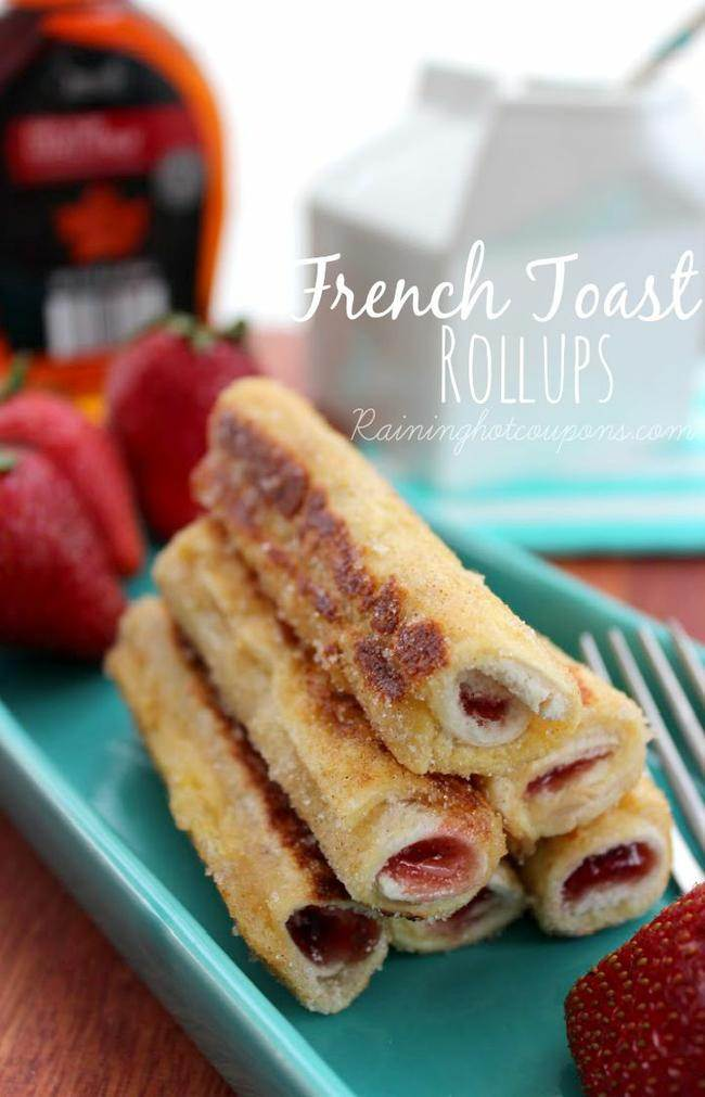 Stuffed French Toast Roll Ups