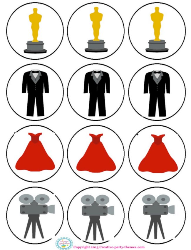 Hollywood Party Printables