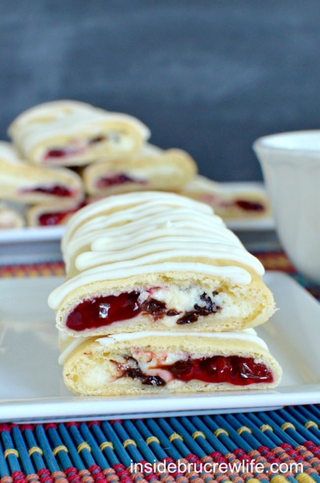 Crescent Roll Cheesecake Bars {raspberry chocolate chip}