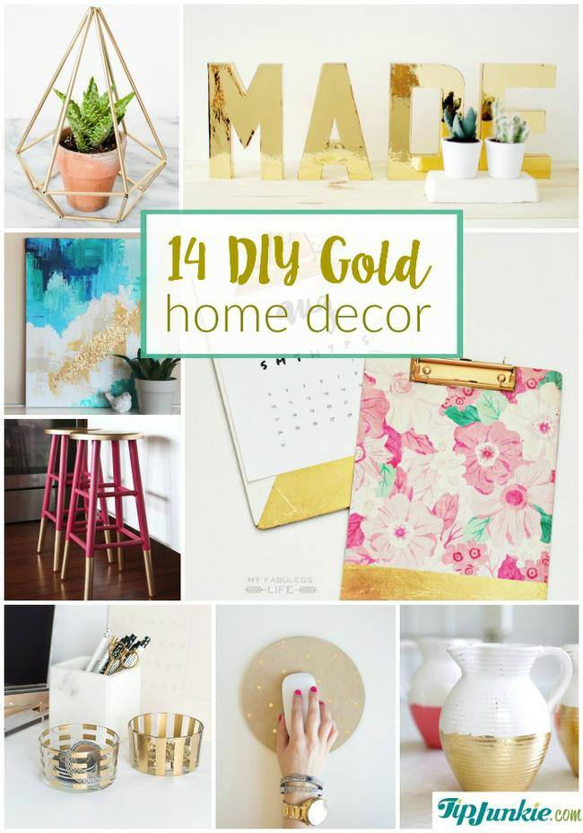 14 Diy Gold Home Decor On The Cheap! | Tip Junkie