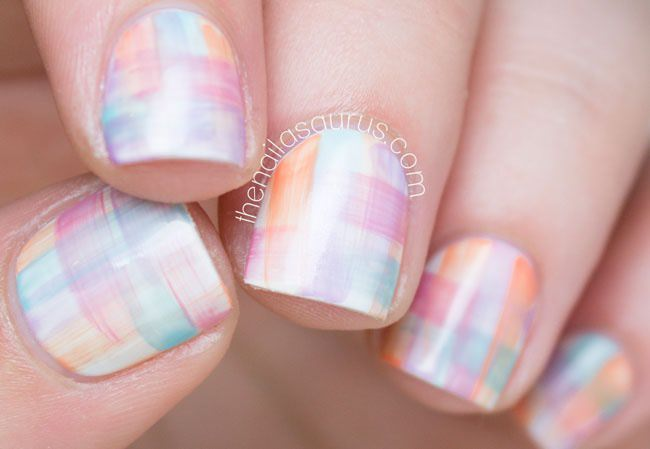 Streaky Watercolor Nail Tutorial