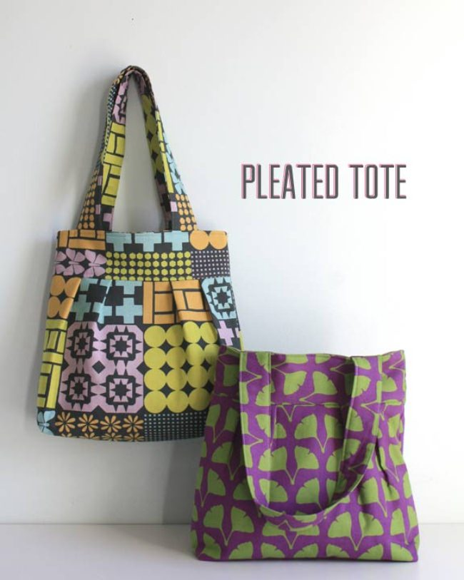 Pleated Tote {free pattern}