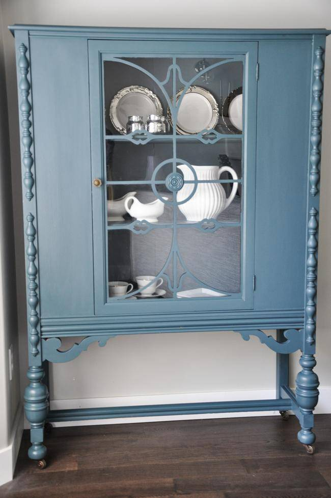 Blue Homestead China Cabinet