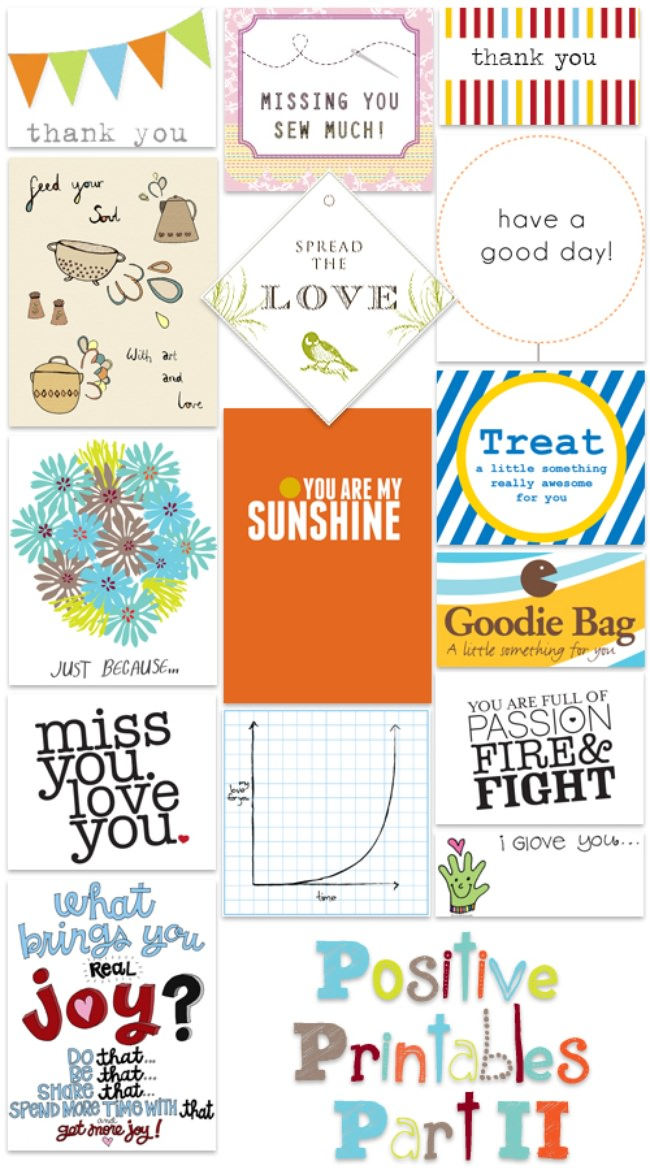 Free Positive Printable Tags