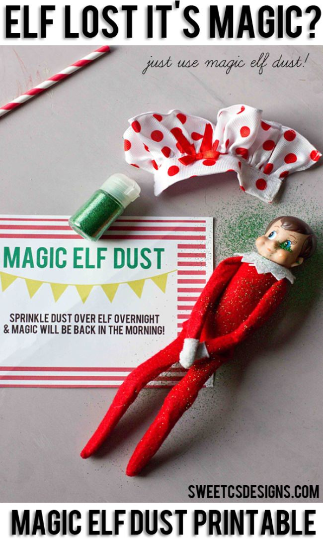 Elf on a Shelf Magic idea, magic dust!