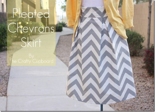 Chevron Skirt With Pocket {Tutorial}