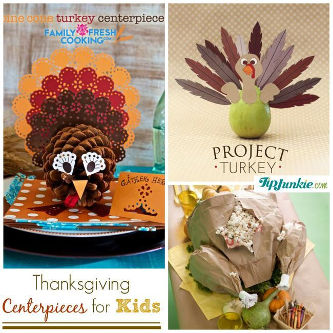 Thanksgiving Centerpieces for Kids