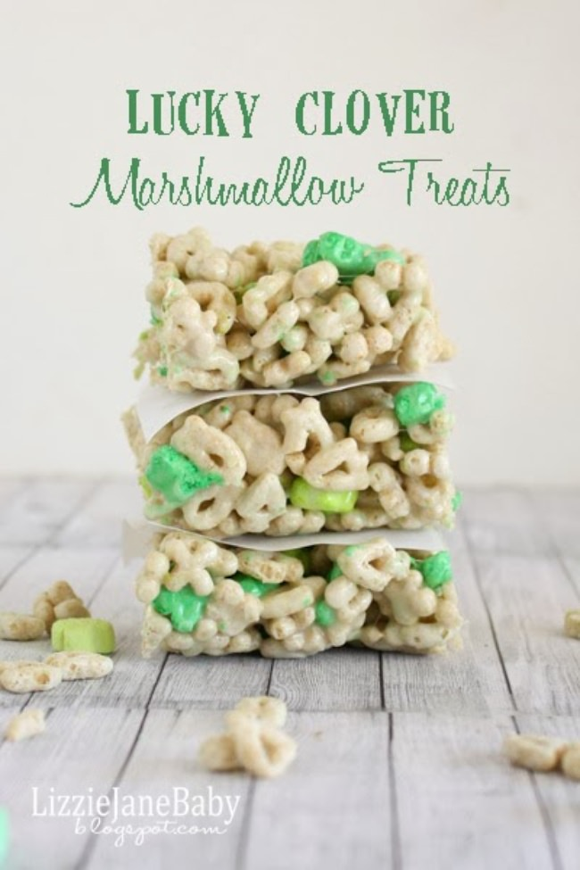 Lucky Clover Marshmallow Treats