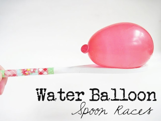 Water Balloon Spoon Race
