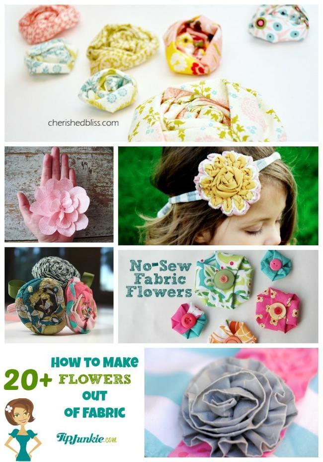 How to Make Flower Out of Fabric