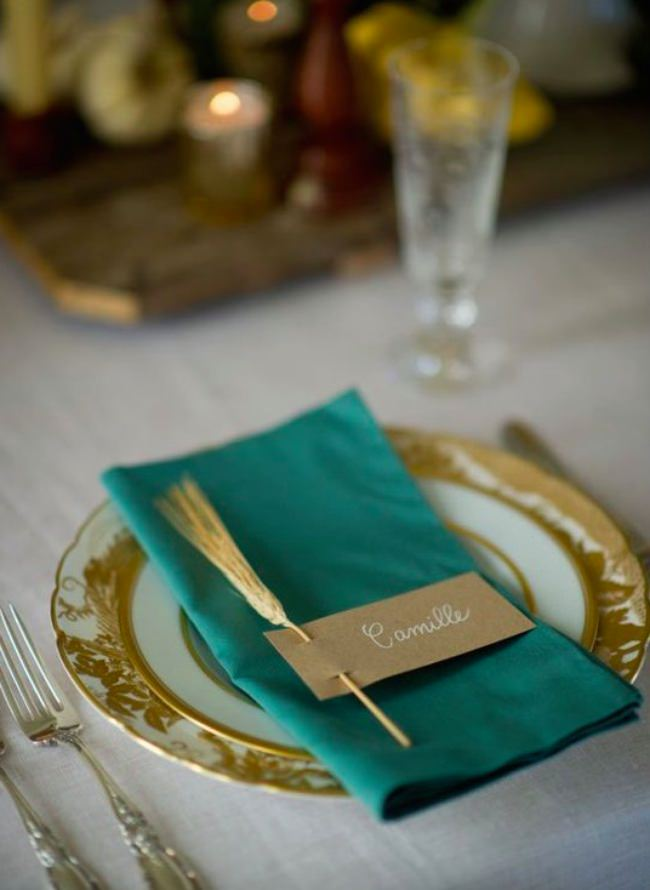 Sprig of Wheat Place Cards
