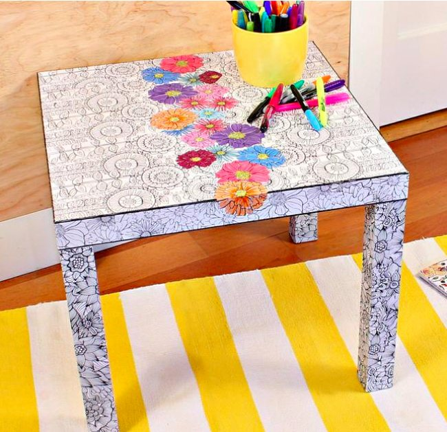 adult coloring book ikea hack