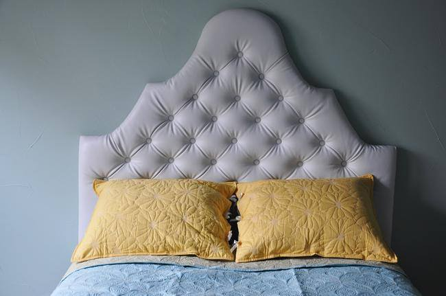 Diamond Tufted Upholstered Headboard {diy}