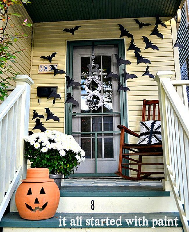 Bats on the Door Decor