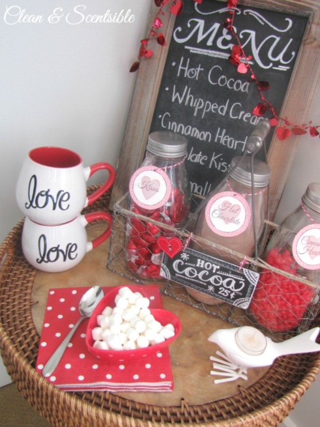 Hot Chocolate Station {valentine's day}