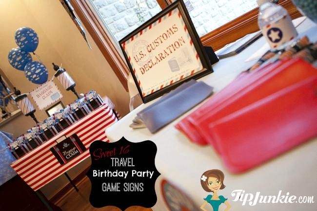 sweet 16 travel party printable file