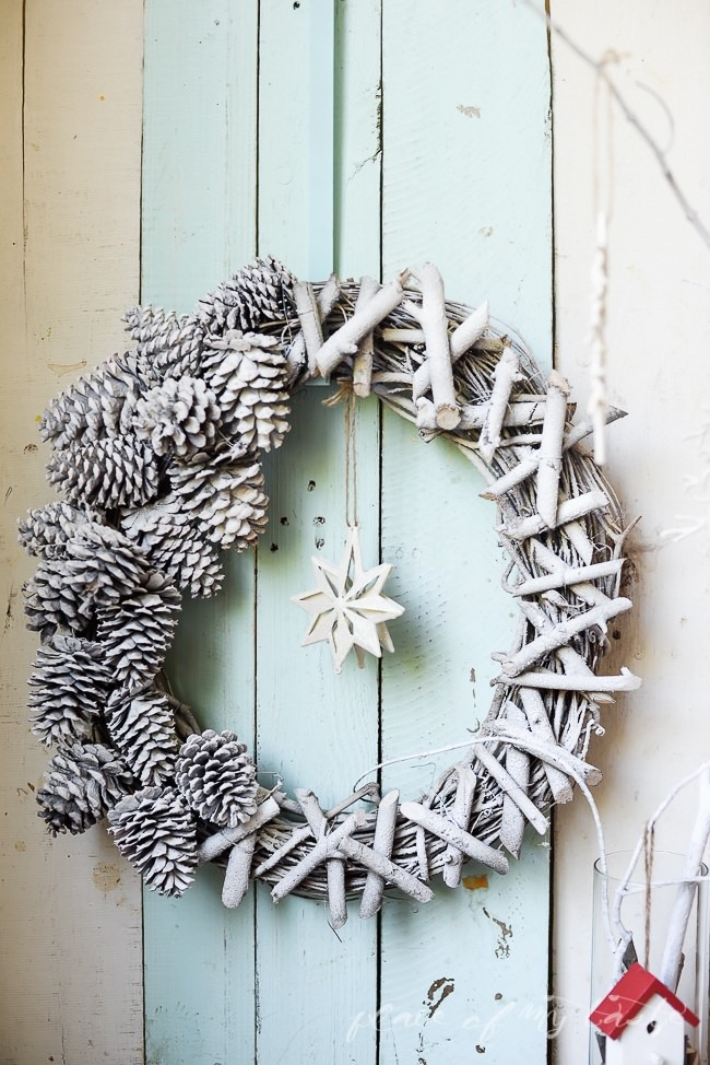 Pine Cone & Twig Christmas Wreath