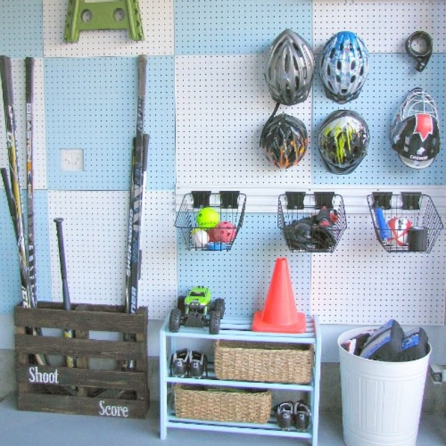 Garage Pegboard Organization