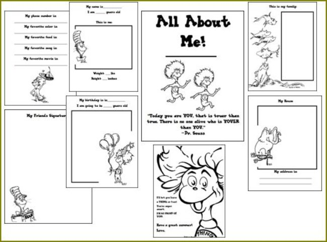 It's just a graphic of Adaptable Dr Seuss Printable Activities