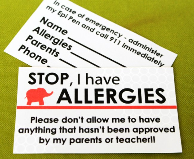 Food Allergy Labels