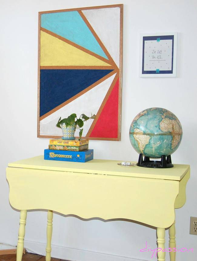 Family Games Table with Homemade Chalk Paint