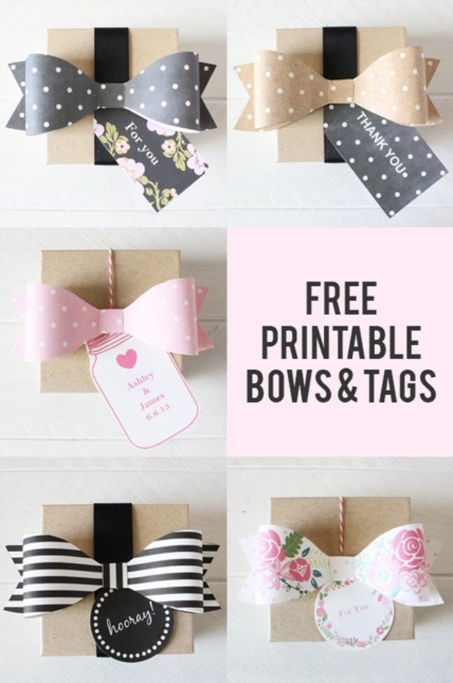 Free Printable Gift Tags and Bows