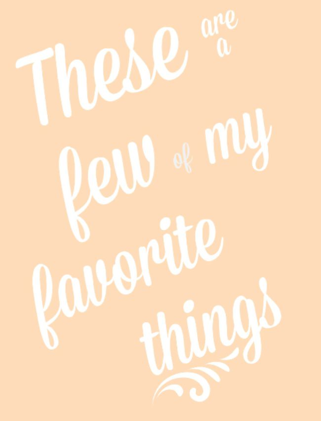 Free Favorite Things Party Printables