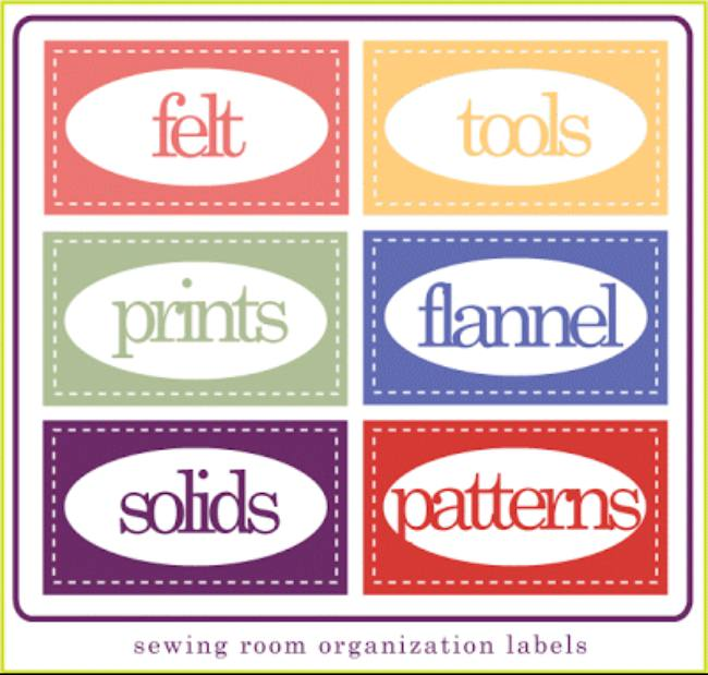 Printable Sewing Room Labels