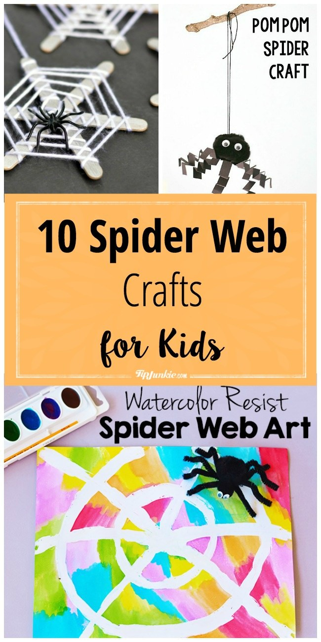 spider crafts for kids pinnable image-jpg