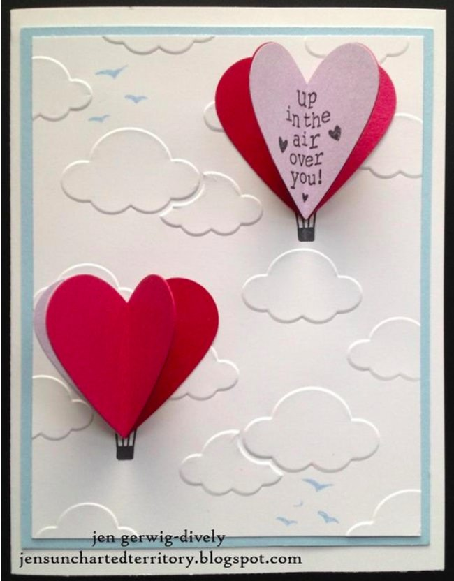 Hot Air Love Card-png