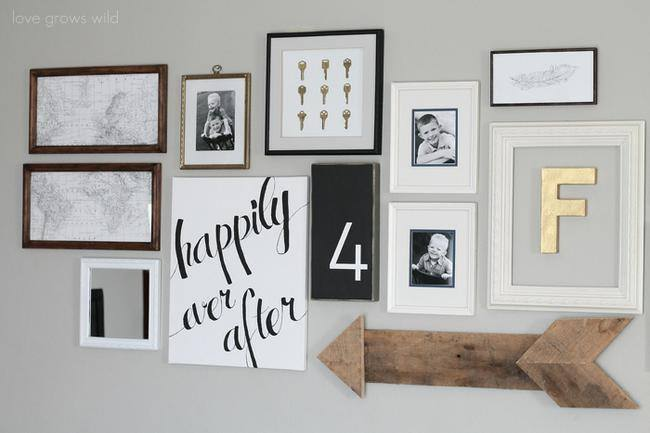 28 Ideas for Gorgeous DIY Gallery Walls – Tip Junkie