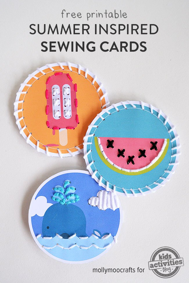Summer Inspired Sewing Cards