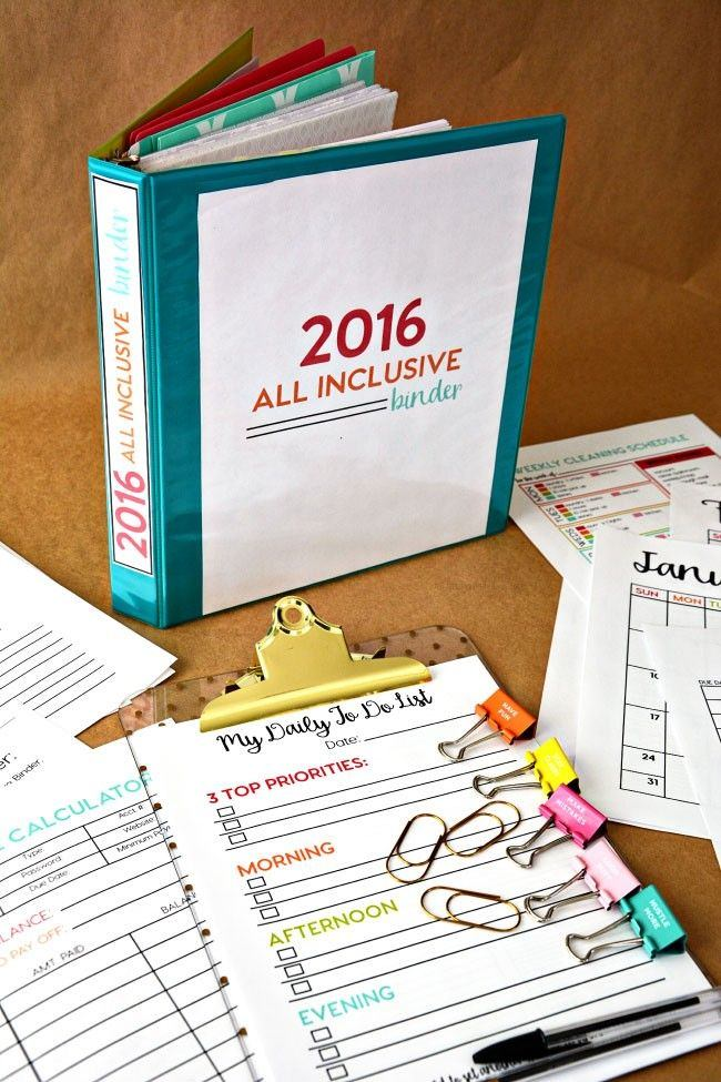 13 printable binders for easy organization