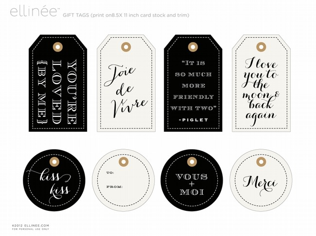 French Inspired Gift Tags