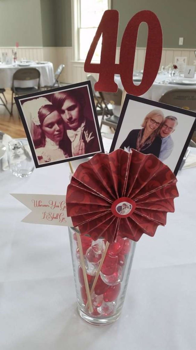 Ruby Anniversary Centerpiece Ideas
