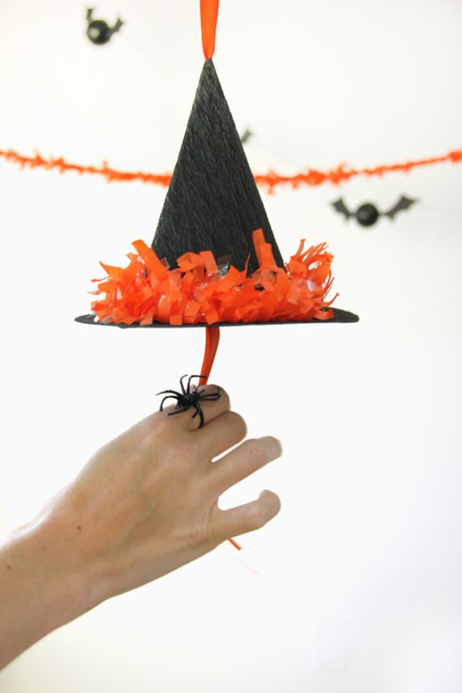 DIY Witch's Hat Pinatas