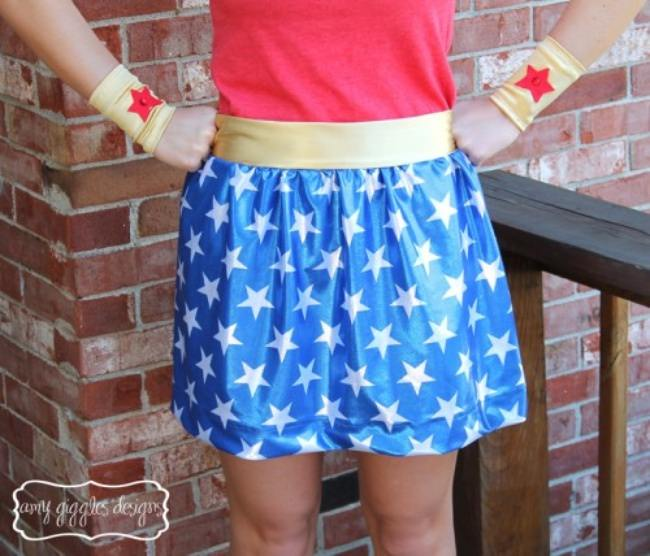 Wonder Woman Skirt {tutorial}