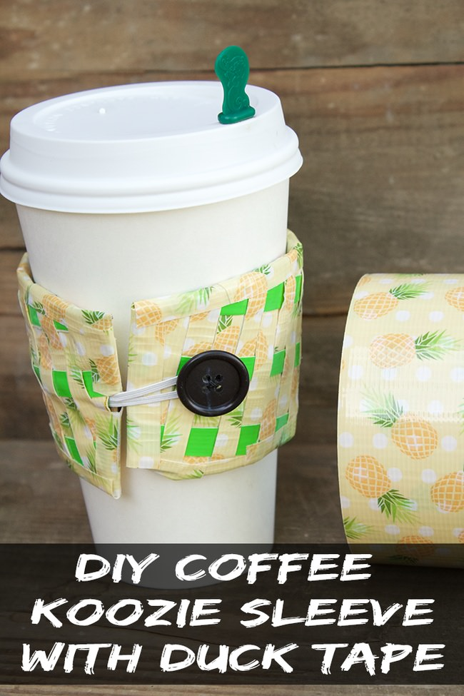 Duck Tape Coffee Koozie Sleeve
