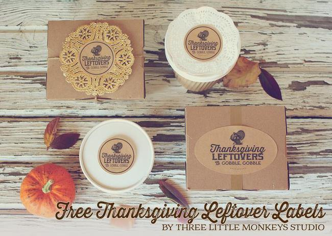 Free Thanksgiving Leftovers Labels
