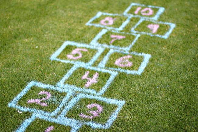Outdoor Hopscotch