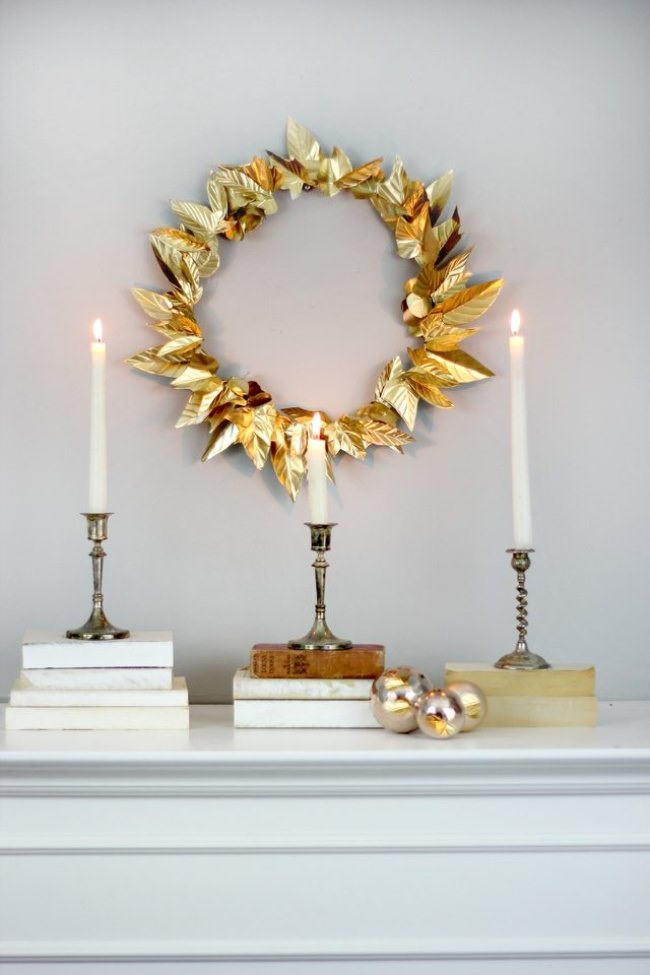 Embossed Foil Wreath DIY