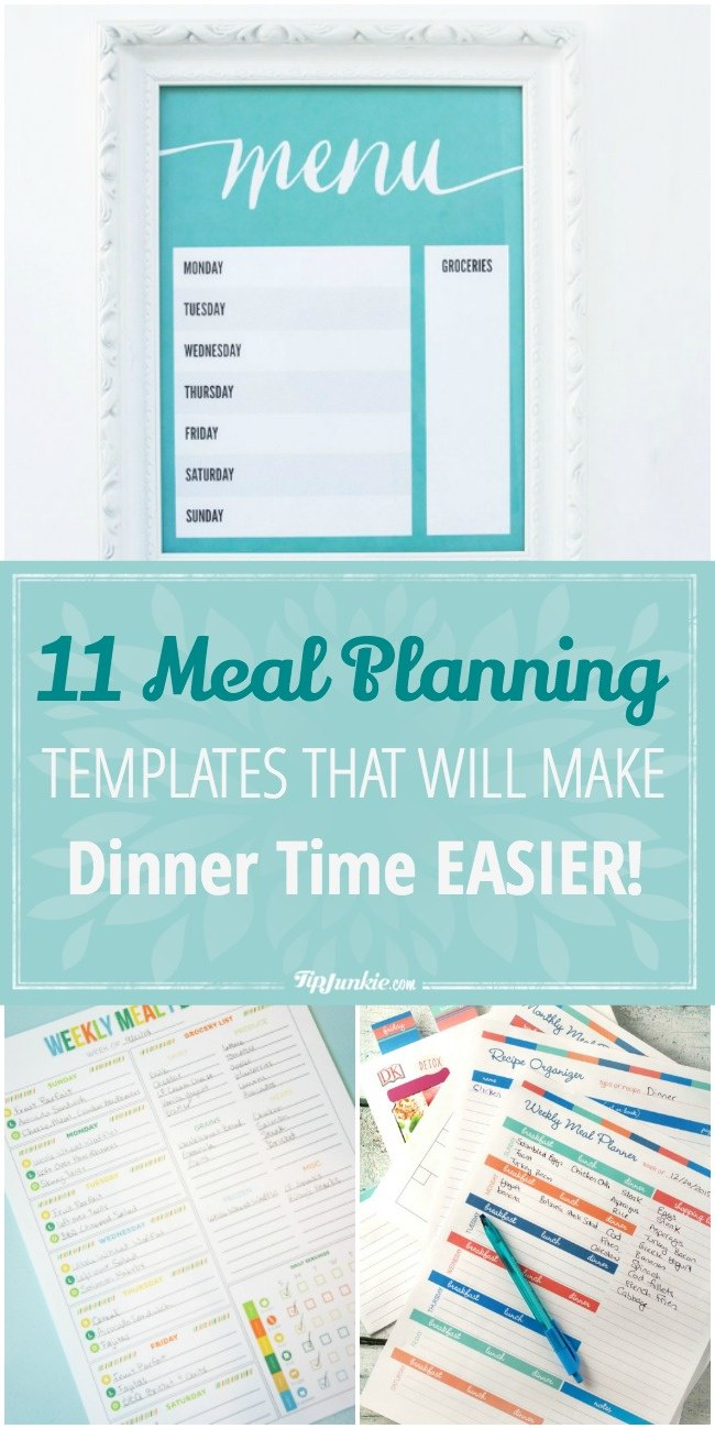 11 Meal Planning Templates That Will Make Dinner Time EASIER!-jpg