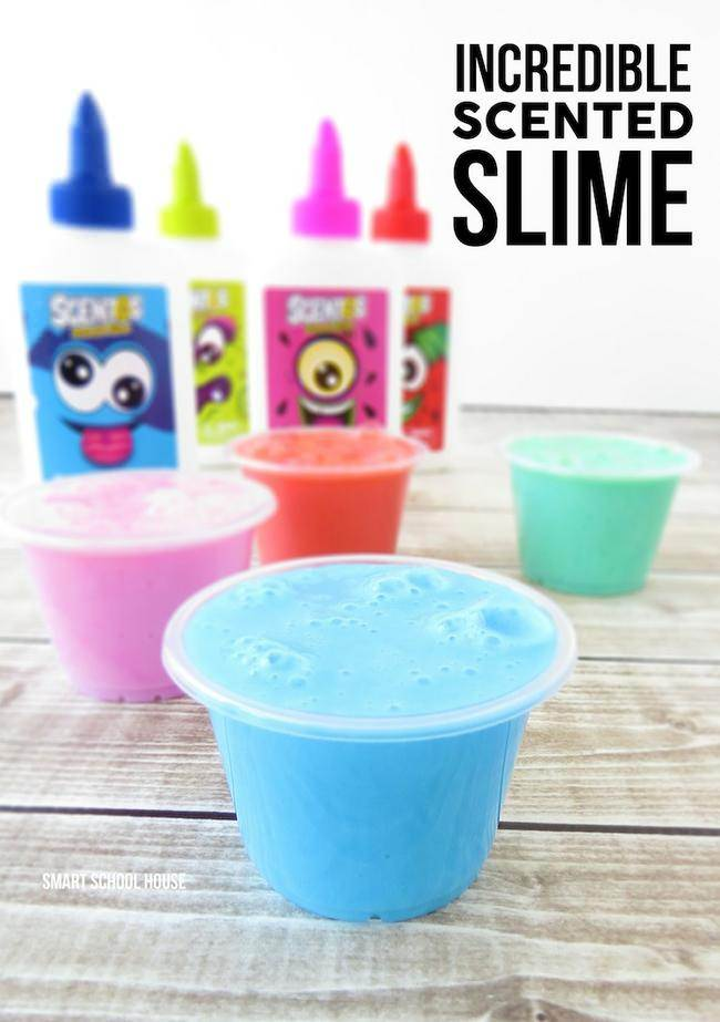 10 easy recipes to make slime tip junkie scented slime your children will have oodles of fun with this simple homemade slime recipe that uses scentos glue so your slime will smell delicious ccuart Images