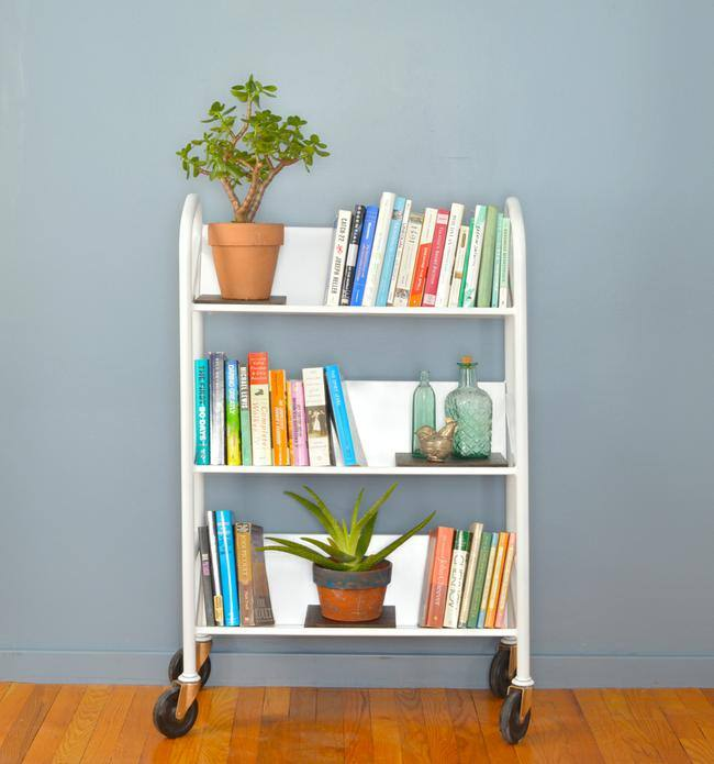Salvaged Library Cart Makeover