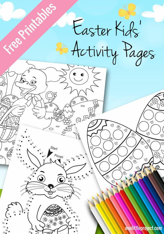 Easter Activity Pages for Kids
