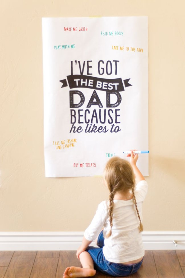 Father's Day Poster {free printable}