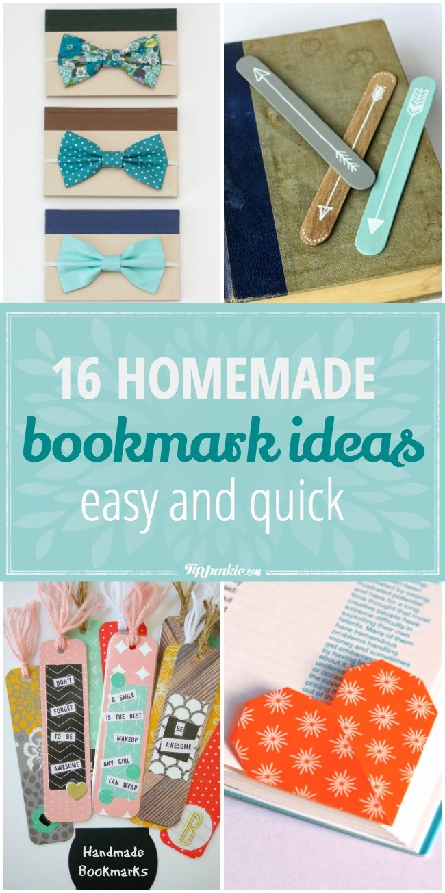 16 Easy And Quick Homemade Bookmark Ideas Tip Junkie