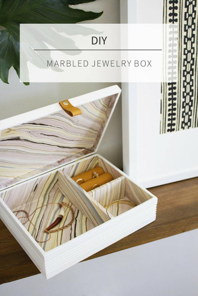 DIY Marbled Jewelry Box