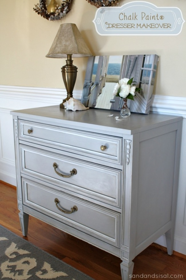 Dresser Makeover with Dark Wax